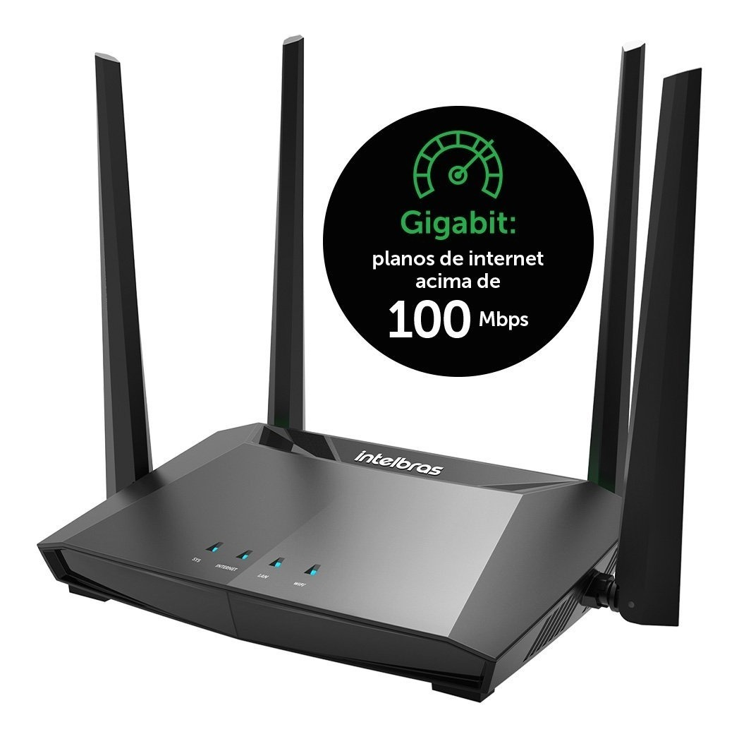 Roteador Intelbras Wireless 4 Portas Dual Band Ac1200